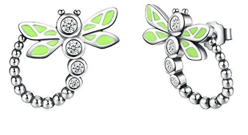 saysure-925-sterling-silver-green-dragonfly-animal-stud-earrings