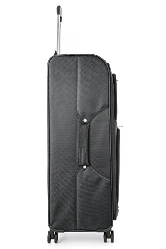 Aerolite Equipaje Maleta ligera con 8 ruedas, Grande 81cm, Negro