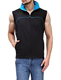 Scott Sleeveless Jacket Men's withzip Black