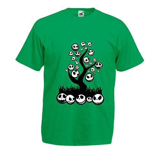 Männer T-Shirt Scary! (Small Grün (Piraten Einfache Kostüm Männliche)