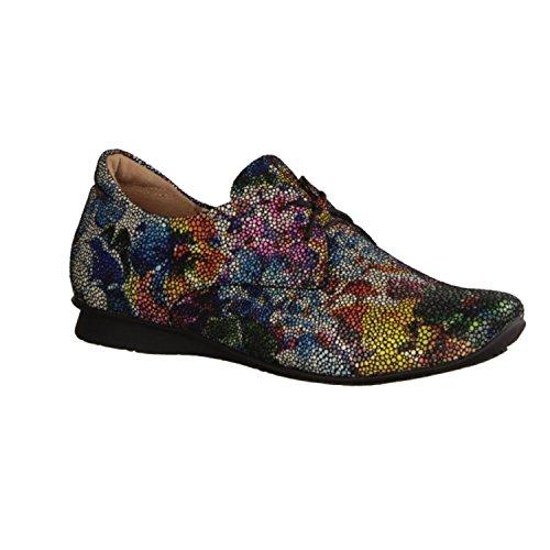 Pensez! 86100-03, Chaussures À Lacets Pour Femme Multicolore Multicolore Multicolore (multicolore)