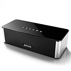 Brisie Wireless Hi-Fi Bluetooth Speaker with Built-in Mic, 10W Output with Enhanced Bass, Premium Sound Quality for Music, Movie, Handfree Phone Call, FM Radio, fit for all Bluetooth Device