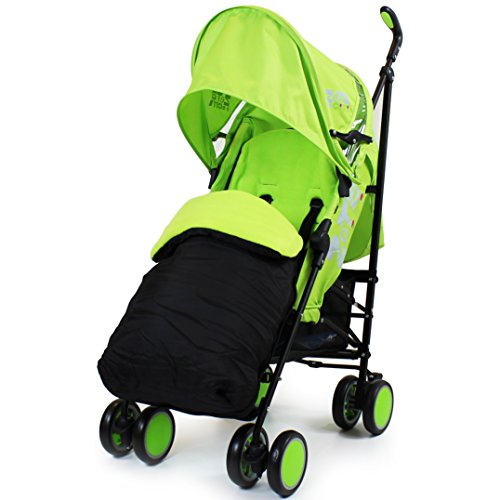 Zeta Citi Stroller Buggy Pushchair - Lime (Complete With Footmuff + Raincover)