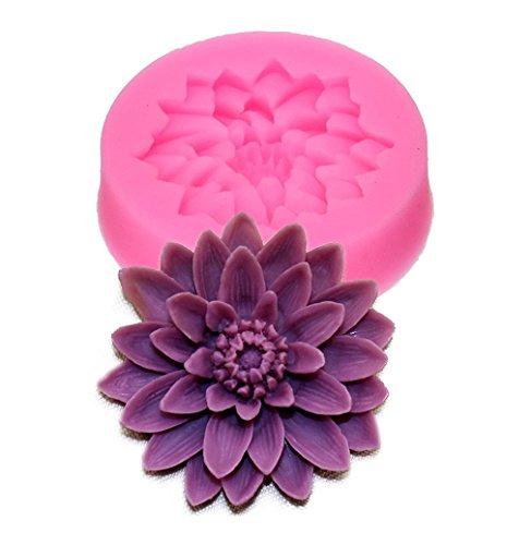 HENGSONG 3D Blume Thema Mould Silikon Form Kuchenform DIY Fondant Süßigkeiten Schokolade Form Backen Formen Dekorieren (Lotus)