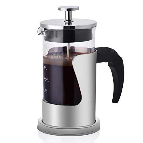 French Press Kaffeebereiter, 304 Edelstahl und Glas, 350 ml, hitzebeständig -