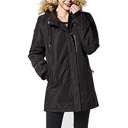 Chaqueta TéRmica EléCtrico USB Calefactable Jacket Encapuchado Invierno Mujer CáLido Ropa Lavable para Acampar Al Aire Libre,M