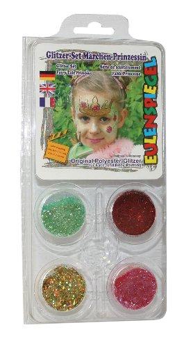 Eulenspiegel 908211 - Schminkset, Glitzerset Märchen Prinzessin (Prinzessin Glitter Kostüme)