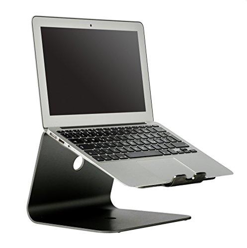 """Slabo Notebookhalterung Laptopständer für MacBook / MacBook Air / MacBook Pro / alle Notebooks / Laptops """"Aluminium"""" - SCHWARZ / BLACK"""