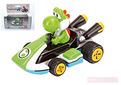 "CARRERA CAR17318 MARIO KART 8 ""YOSHI\"" PULL SPEED 1:43 MODELLINO MODEL"