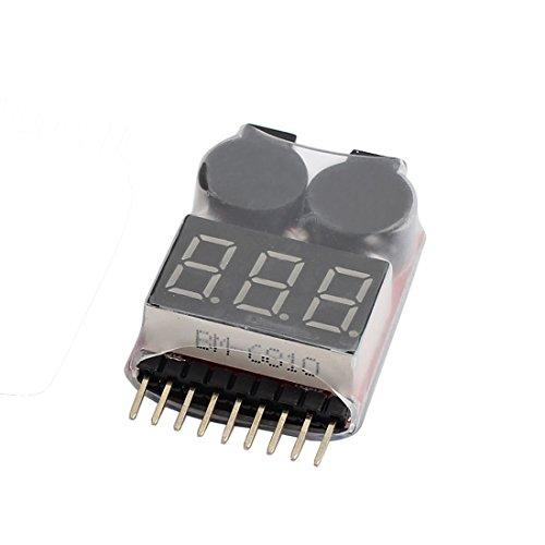 Volt 1 Licht (Sourcingmap® 1–8s 2in 1Rot Anzeige Lipo Akku Spannungsprüfer Low Volt Summer Alarm)