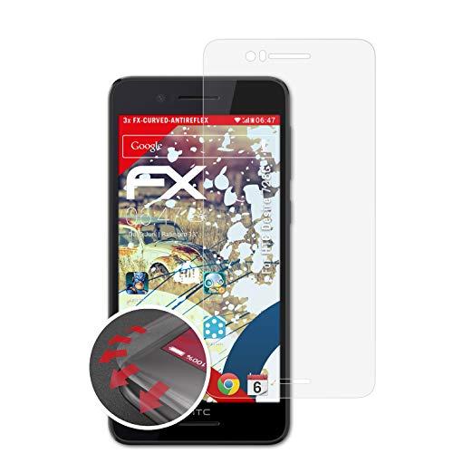 atFolix Schutzfolie passend für HTC Desire 728G Folie, entspiegelnde & Flexible FX Bildschirmschutzfolie (3X)