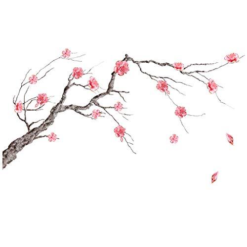 YEARNLY Kinderzimmer Babyzimmer Entfernbare Wandtattoos Wandbilder Blume und Baum Kirschblüte Abnehmbare Wandaufkleber Wandsticker für Kinder Wand Deko - Imbiss-stand