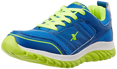 Sparx Men's Blue and Fluorescent Green Running Shoes - 10 UK/India (44 EU)(SM-502)