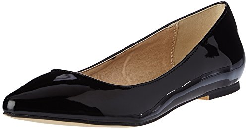 Buffalo Shoes H690A-30 P1236I Pu Patent, Ballerine Donna, Nero (Black 01), 40 EU