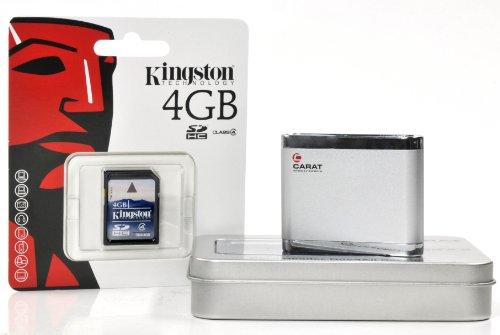 Lector de tarjetas USB Card Reader Carcasa de aluminio en Juego con tarjeta SD de 4GB Incluye software de rescate de datos