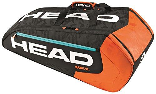 head-radical-9r-supercombi-portaracchette-nero-arancione