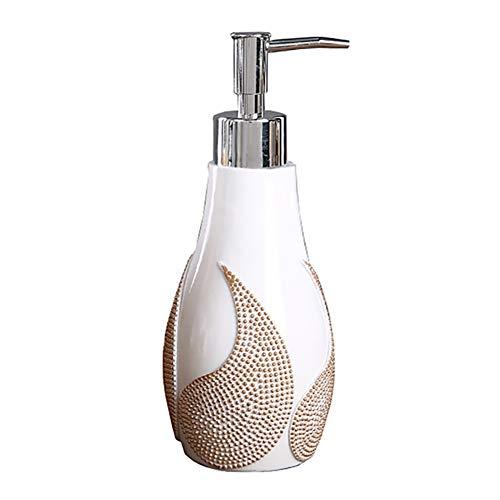 GBNIRE Seifenspender Shampoospender Gelspender, Pumpe aus Edelstahl, für Flüssigseife, Spülmittel, Handdesinfektionsmittel und Lotion (Farbe : Weiß)