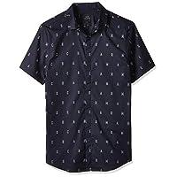 Armani Exchange Men's 3GZC04 Shirt, Multicolour (A-0 Outling Logo B& 6501), L