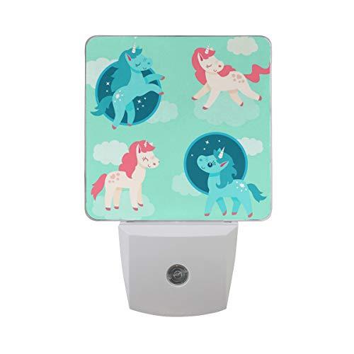 (Nachtlicht Einhorn, 2Pack Light UK-Stecker 0,5W Sensor Automatik Open Close Persönlichen Innen für Kids Baby Kinder Kinder Erwachsene Schlafzimmer Flur Geschenk Dekoration Nachtlicht, multi, UK PLUG)