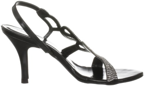 Unze Evening Sandals, Damen Sandalen Schwarz (L18173W)