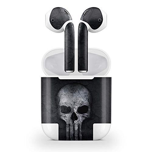 Skins4u Design Schutzfolie Aufkleber Skins kompatibel mit Apple Airpods 2G ohne Wirelesse Case Hard Skull 2g Hard Case