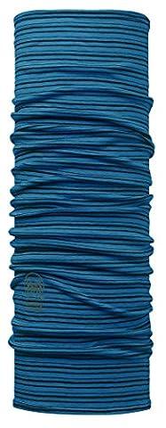 Buff Men's Wool Neckwear - Yarn Dyed Stripes Seaport Blue, Adult/One Size