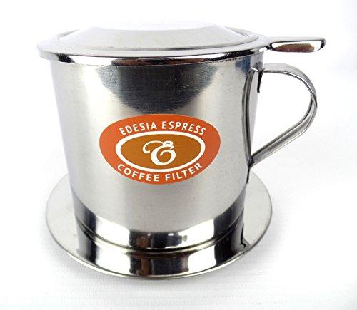 EDESIA ESPRESS - Vietnamesischer Kaffeefilter Ca Phe Phin - Edelstahl - Schraub-Filter - Größe 10