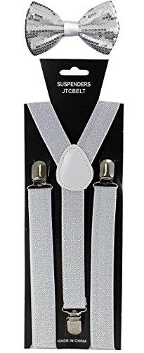 JTC Belt Pack bretelles/nœud papillon Nombreuses variations disponibles Argenté - Silver Glitter