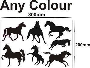 Smarts-Art caballos pegatinas adhesivos peel offs Scrap reserva 1x A4hoja de un montón de colores
