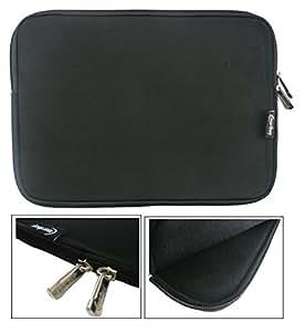 Emartbuy® Water Resistant Neoprene Soft Zip Cover for XPS 11 2-in-1 Ultrabook Laptop (Size 11.6-13.3 inch_Black Plain)