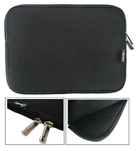 Emartbuy® Schwarz Wasserdicht Neopren weicher Reißverschluss Kasten Abdeckung Sleeve With Schwarz Interior & Zip Geeignet Für Odys Unity Win 12 2 in 1 Tablet PC 11.6 Zoll ( 11.6 - 12.5 Zoll Laptop )