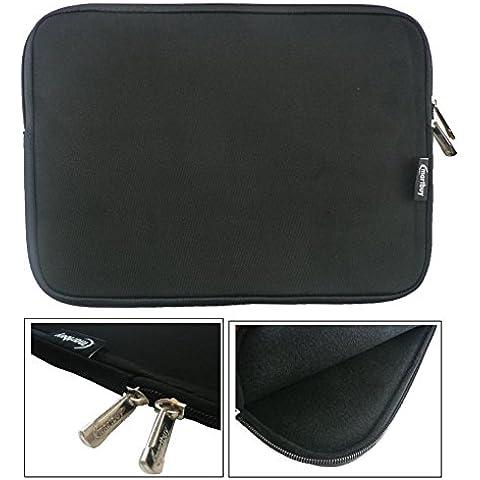 Emartbuy® Nero Impermeabile Morbido Neoprene Custodia Sleeve Case Cover Con Nero Interno & Cerniera Lampo Adatta Per Xiaomi Mi Notebook Air 12.5 Pollice ( 11.6 - 12.5 Pollice Laptop )