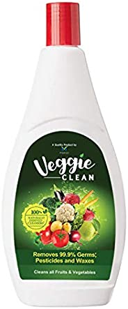 Veggie Clean 400 ml, 100% Safe, Scientific & Natural Vegetable & Fruit Wash Liquid | Removes 99.9% Ger