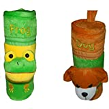 CHINMAY Kids Baby Feeding And Nursing Bottle Cover Combo (Brown, Green)