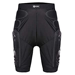 AKAUFENG Protektorenhose Kurz Schutz Shorts für Motorradfahren Rennen, Snowboarden/Skaten