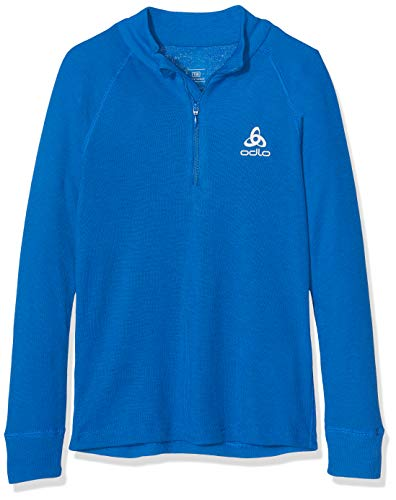 Blau Thermal Long Sleeve Top (Odlo Kinder SUW TOP Turtle Neck 1/2 Zip l/s Active O Unterhemd, Energy Blue, 152)
