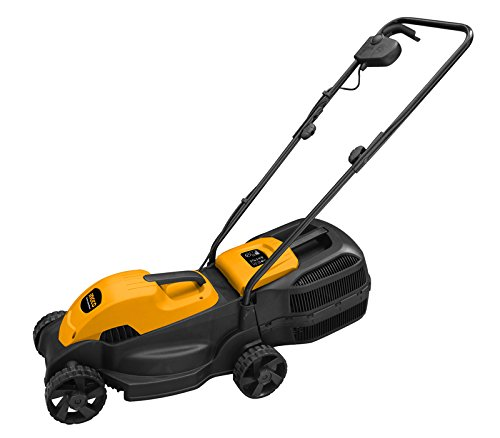 ToolsCentre TC-LM385 1600W Powerful Electric Lawn Mower with Grass Catcher, Yellow