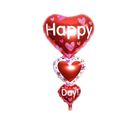 RM  Globo P011XL protectores aluminio globo corazón amor San Valentín Boda Happy Day Love 80cm  RM