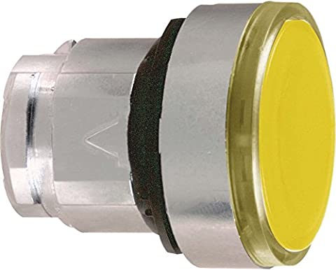 Schneider Electric ZB4BA58 Pushbutton Head, Orange Flush Illuminated Pushbutton Head Ø22 Spring Return For Integral Led, Part