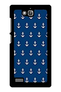 Caseque Anchor Blue Back Shell Case Cover For Huawei Honor 3C