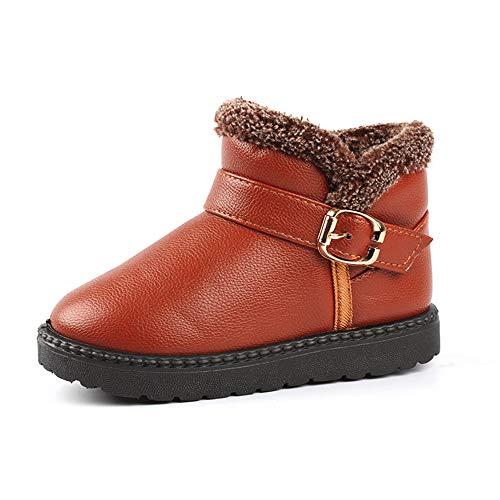 Beikoard Kleinkind Baby Winter Schneeschuhe Plus Samt Anti-Rutsch-Füßlinge Warme Schuhe Kinderschuhe Gefüttert Winterschuhe (Braun, 26)