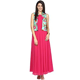 ATHENA Long Dress With Printed Jacket