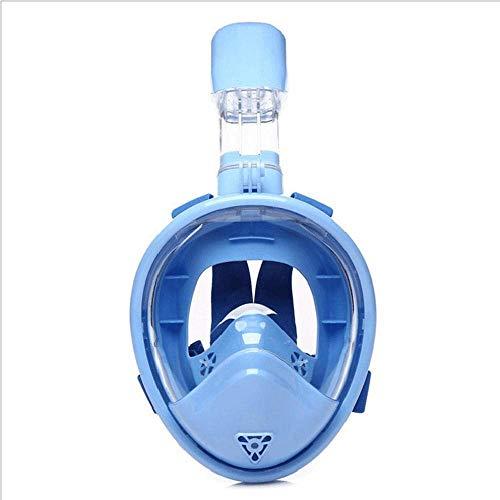 DLZY Schnorchel Maske 180 ° Panoramablick freies Atmen, Anti-Beschlag-Anti-Leck Sicherheit Taucherbrille