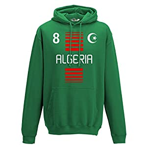 Hoodie Kapuzen-sweat-Shirt manner National Sport Algerie Algerien 8 fussball Sport Afrika Mezzaluna 1 KiarenzaFD Streetwear