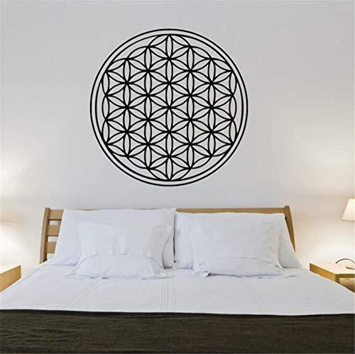 Waofe Blume Des Lebens Wandtattoo Geometrie Stil Wandaufkleber Home Decor Blumen Des Lebens Vinyl Wandbild Schlafzimmer Tapete Aufkleber 42X42Cm