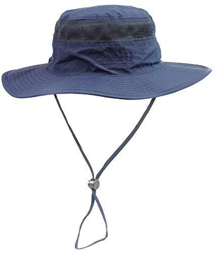 FEOYA Mujer Hombre Sombrero de Pescador de Ala Ancha Anti-UV Algodón  Plegable Selva Gorra 66871a47fc3