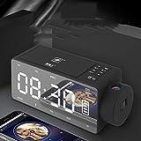 Kuan Wecker Lautsprecher Audio drahtlose Aufladung blau Neue kreative Nacht Smart-Lautsprecher (Bildtelefon ist nur Dekoration),Red
