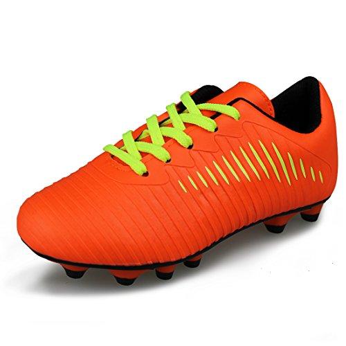 JABASIC Unisex-Kinder Classic Fußballschuhe Sportlich Draussen Boots (34,Orange)