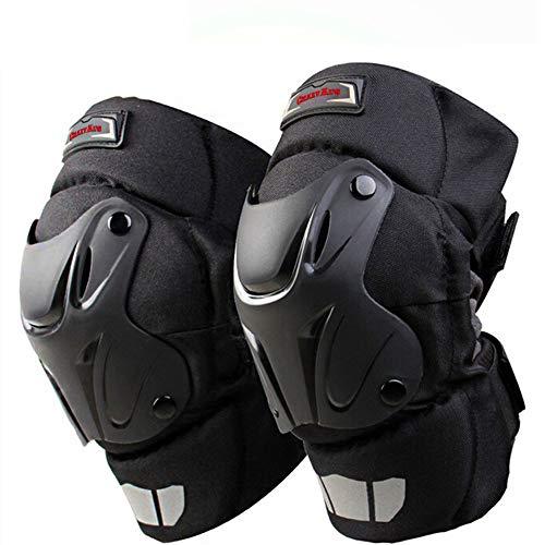 CRAZY AL'S® CAK ginocchiere per moto e motocross; cuscinetti protettivi neri per ginocchio