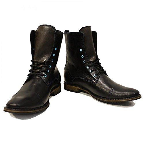 Modello Lorano - 44 UE - colorido a mano zapatos de cuero de zapatos italianos botas de alto ata para arriba los hombres Casual Formal premium único de la vendimia